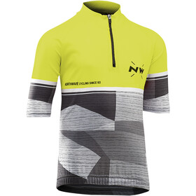 Northwave Origin Maillot manches courtes Enfant, yellow fluo/green